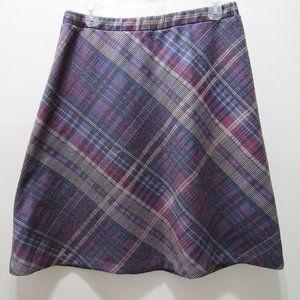 Vintage Plaid A-Line Skirts